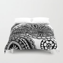 Waves and Spirals Duvet Cover