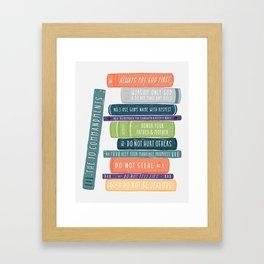 The Ten Commandments Framed Art Print