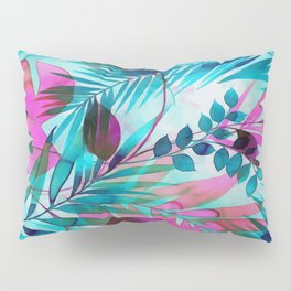 Colorful tropical leaves Pillow Sham