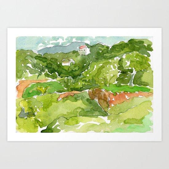 Untitled Landscape, Caruao Venezuela Art Print