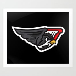 Downtown Falcons Logo Art Print