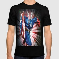 Captain.... Mens Fitted Tee Black SMALL