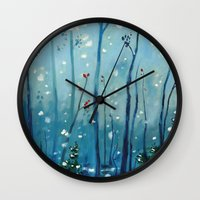 new year Wall Clocks featuring new year by Brandon Koepke