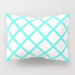 Criss-Cross (Turquoise & White Pattern) Pillow Sham