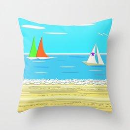 Sailing - Beach Life Throw Pillow