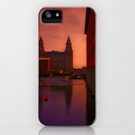 The Liver Building from the Princes Dock iPhone Case