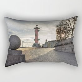 Rostral column in Saint Petersburg Rectangular Pillow