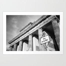 Brandenburger Tor | Black and white Berlin Art Print
