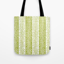 Mid Century Modern Berry Vine Stripes Chartreuse Tote Bag