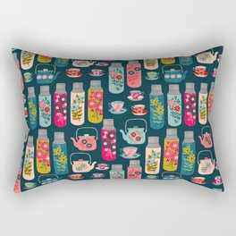 Vintage Thermos - Teacups and Teapots by Andrea Lauren Rectangular Pillow