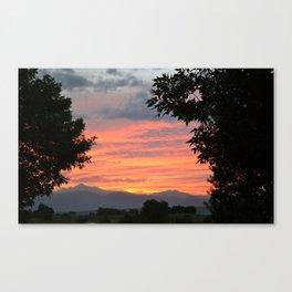 Rocky Mountain Sunset - M Canvas Print