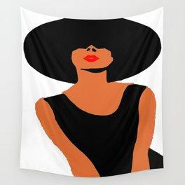 Audrey Hepburn Hat Fashion Portrait  Wall Tapestry