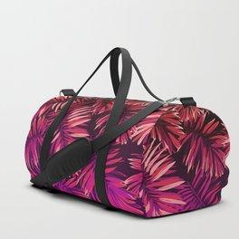 Pink palm leaves Duffle Bag