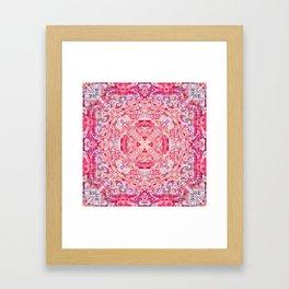 Boujee Boho Rose Tapestry Print Framed Art Print