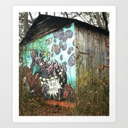 graffiti barn Art Print