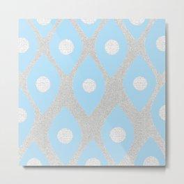 Eye Pattern Blue Metal Print