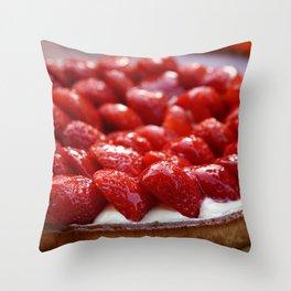 Strawberry Pie Throw Pillow