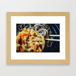 Tenpura Soba - Japan always in your hands Framed Art Print
