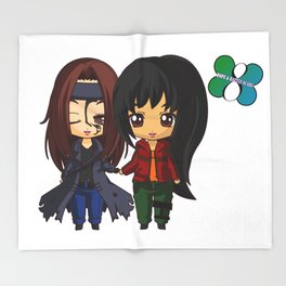 The 100 Raven Reyes And Emori For The Hope And Battle Scars Campaign Throw Blanket