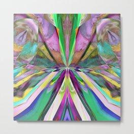 346 - Abstract Flower Design Metal Print