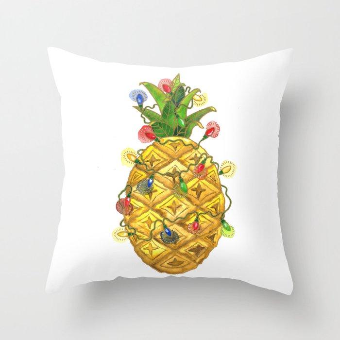 Christmas Pineapple.The Christmas Pineapple Throw Pillow By Shelleyylstart