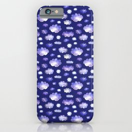 Blue clouds pattern iPhone Case
