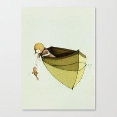 Sofi and the Fish Canvas Print