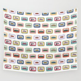 Mixed Mix Tapes - Light Background Wall Tapestry