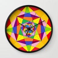 fibonacci Wall Clocks featuring FIBONACCI  by PlanetLOUDville