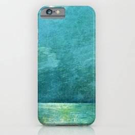 Classical Masterpiece 'Moonlight on the Sound' by Frederick Childe Hassam iPhone Case
