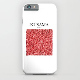 Kusama - Red Dots iPhone Case
