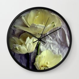 Paper Whites...Tulips, That Is Wall Clock