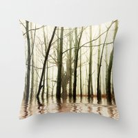 ghost Throw Pillows featuring GHOST TREES by Catspaws