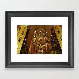 Gold Atlas Framed Art Print