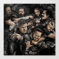 sons of anarchy Canvas Prints featuring Sons of Anarchy-War by Denis O'Sullivan
