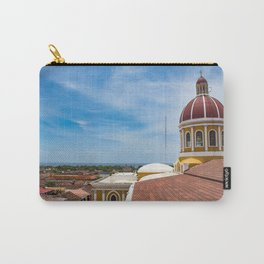 Looking towards Lake Nicaragua from Granada Cathedral Carry-All Pouch