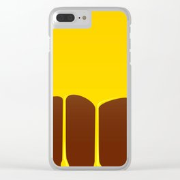 Custard And Chocolate Pudding Clear iPhone Case