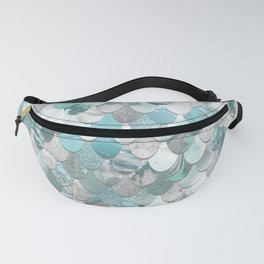 Mermaid Aqua and Grey Fanny Pack