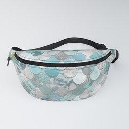 Mermaid Aqua and Grey Fanny Pack