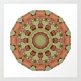 Rust-Mandala 712_R_2, Colors of Rust Art Print