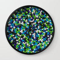sprinkles Wall Clocks featuring Sprinkles by Jessica Torres Photography
