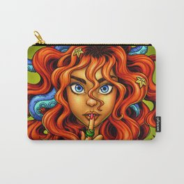 Tentacle Hair Lady- red Carry-All Pouch