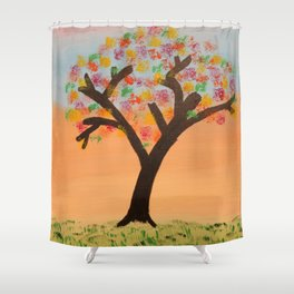 The First Sign of Fall Shower Curtain