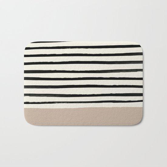 Latte & Stripes Bath Mat