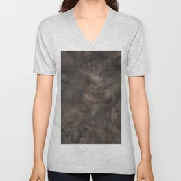 Brown dark misty look Unisex V-Neck