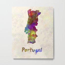 Portugal in watercolor Metal Print