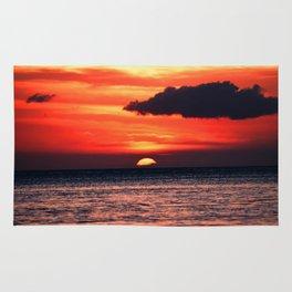 Big Island Hawaii Sunset Rug