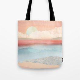 Mint Moon Beach Tote Bag