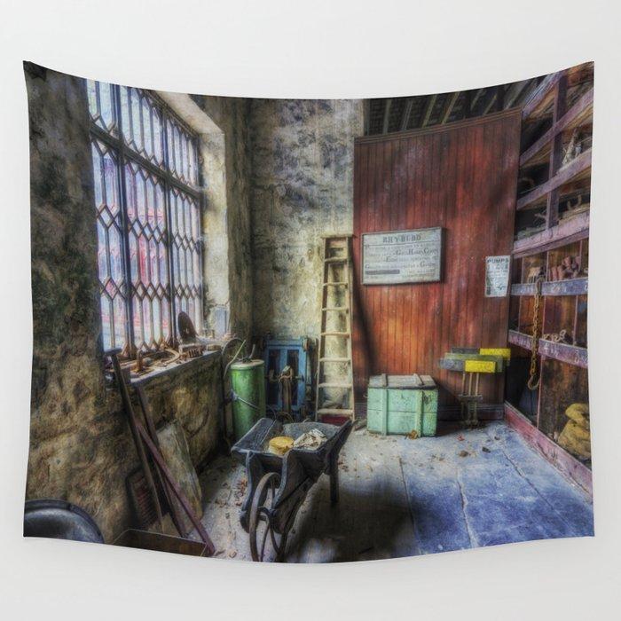 Olde Victorian Slate Workshop Wall Tapestry