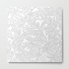 Let Love Grow - gray/white Metal Print